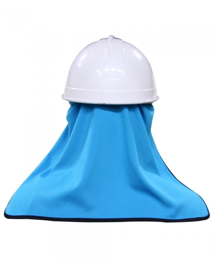 오투아이스 썬가드 쿨링 햇빛가리개 - 안전모형/블루