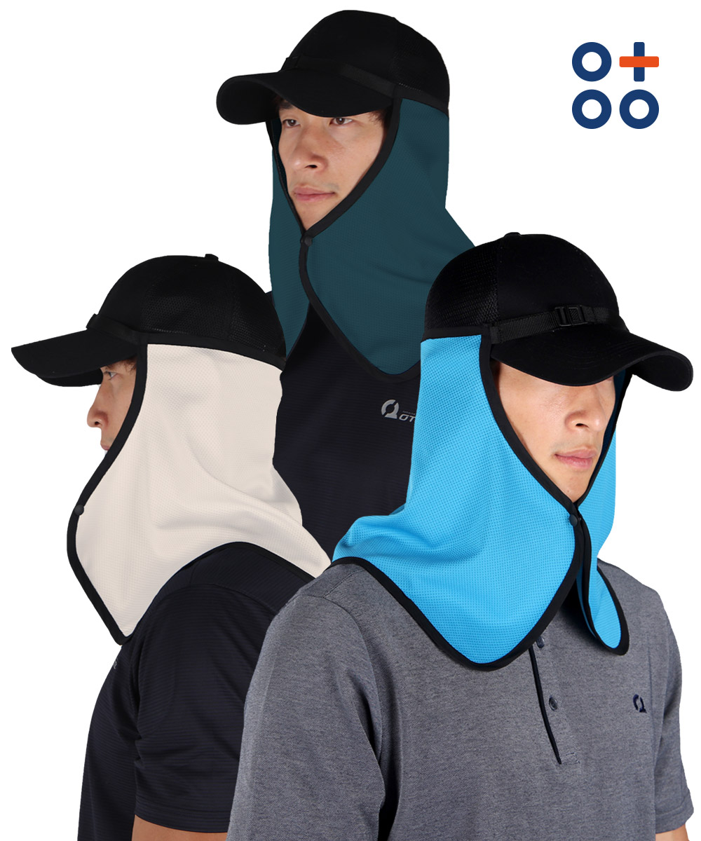 오투아이스 쿨링 햇빛가리개모자 자외선차단 등산 썬가드 캡모자 안전모 겸용