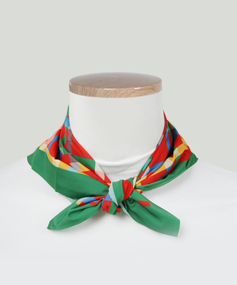 오투아이스 미라쿨 사각 쿨스카프 - 타탄체크