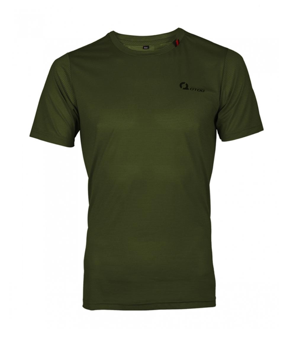 오투아이스 쿨론 스포츠 티셔츠 - 카키
