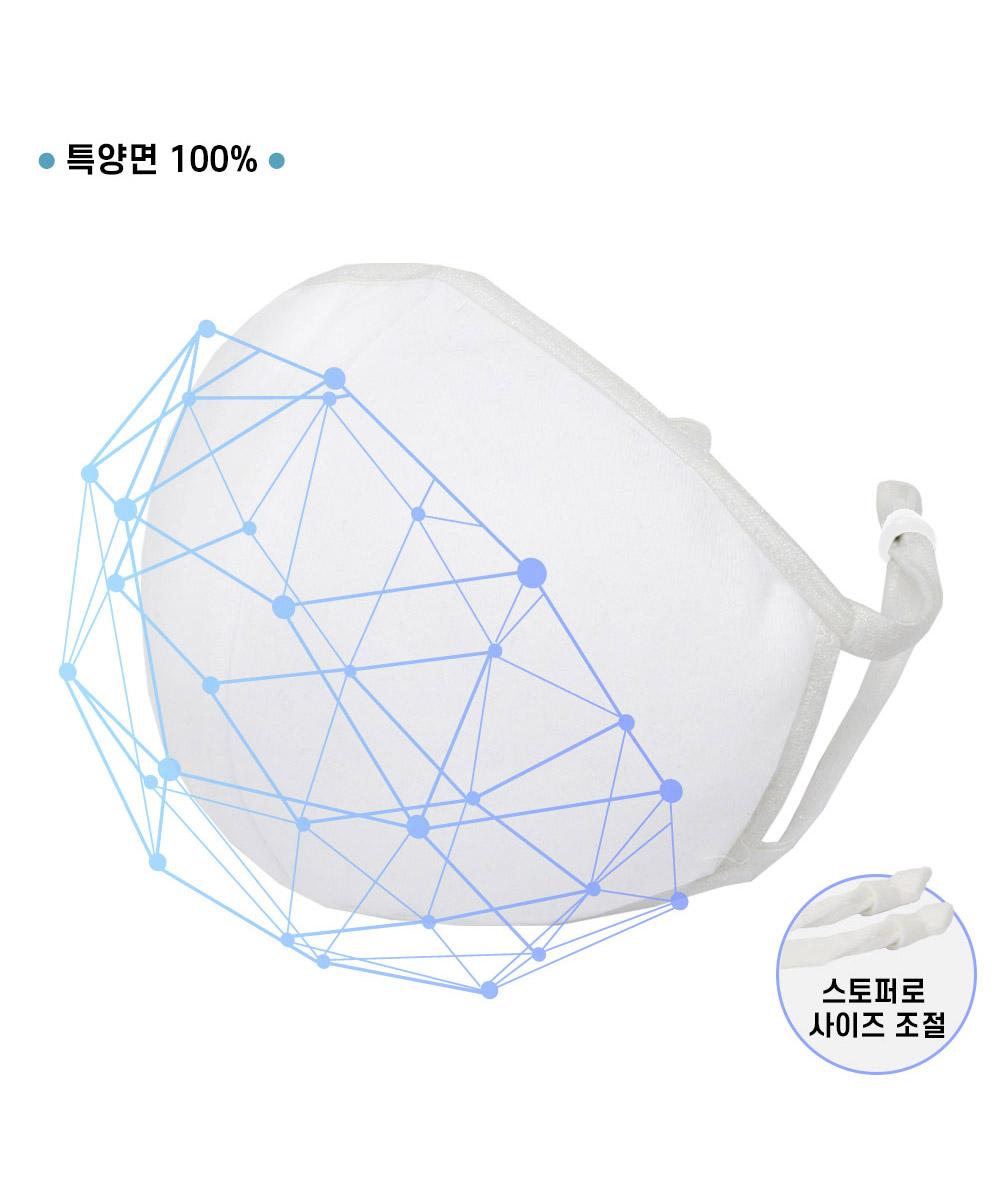 오투라이프 3D 입체 마스크-화이트 (필터 별매)