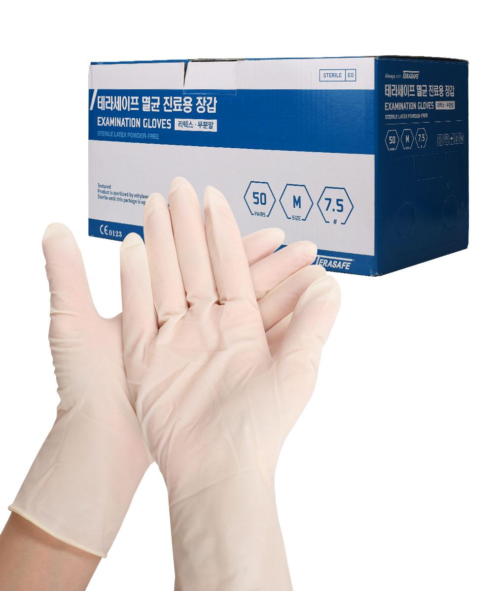 멸균 라텍스 진료용 장갑 50조(1box/개별포장)