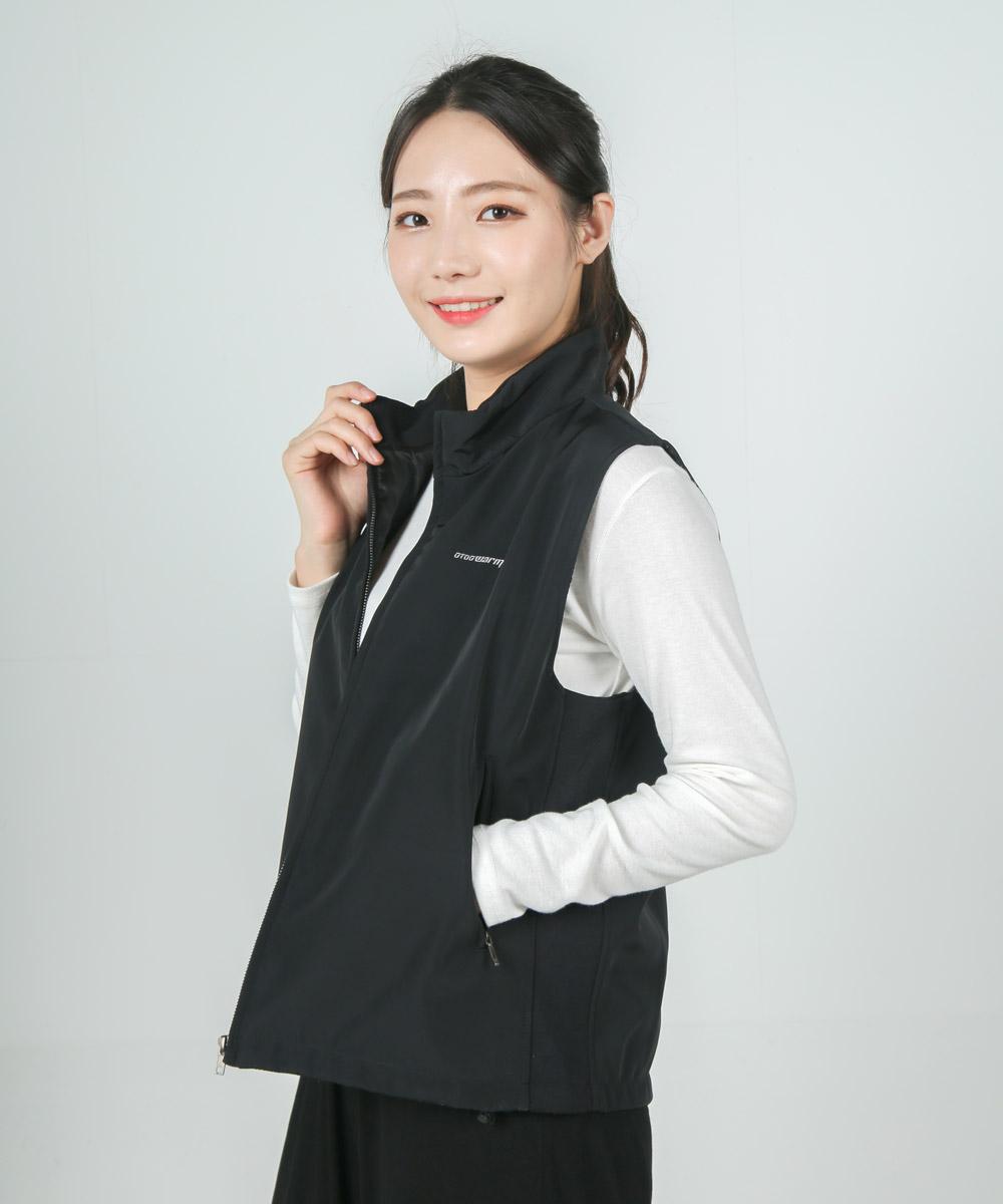 오투웜 레전드 차이나넥 발열조끼 (대용량배터리 포함)- Legend Black -